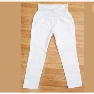 Liz Lange Maternity White Jeans Womens Size XXL 18